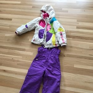 Obermeyer girls size 4 ski jacket & pants